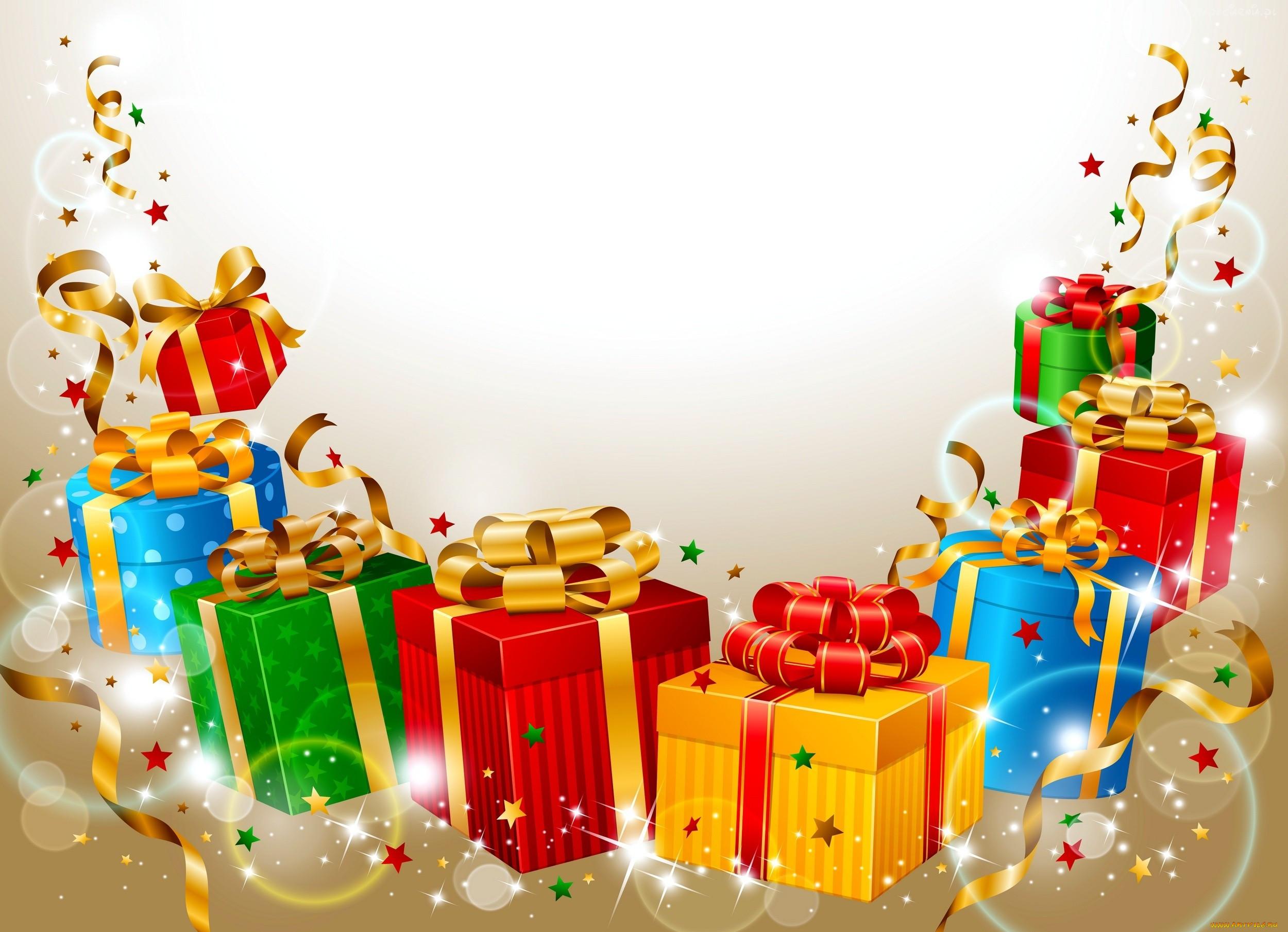 фиолетового новый год подарки детям открытки видим